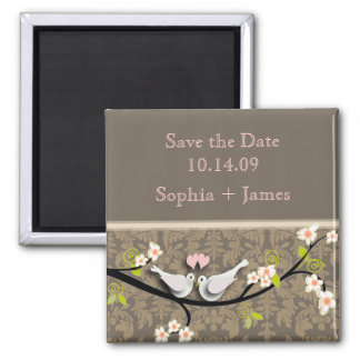 Save the Date, love birds Magnet