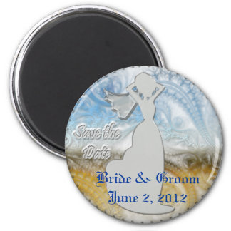 SAVE THE DATE 2 INCH ROUND MAGNET