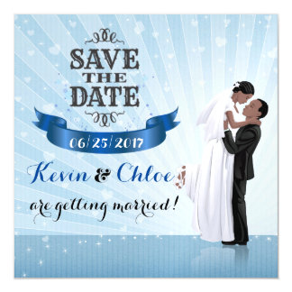 Save the Date Magnet (African American Couple)