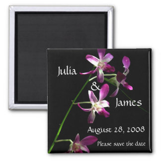 Save the Date Magnet ~ Beautiful Orchids