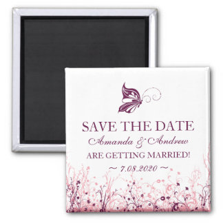 Save the date magnet ~ Butterfly Garden 3