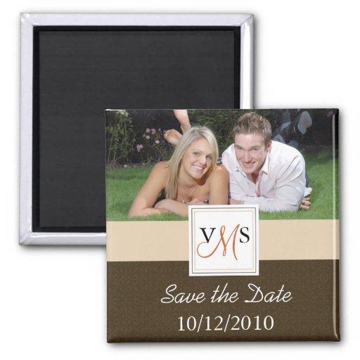 Save the Date Magnet - Elegant Monogram
