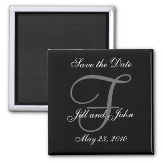 Save the Date Magnet First Names and Initials