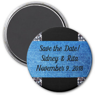 Save the Date Magnet for Denim & Diamonds