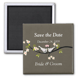 Save the Date Magnet, love birds Magnet