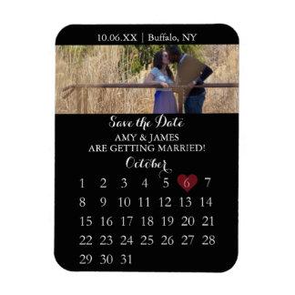 Save the Date Magnet - Photo Calendar (Vertical)