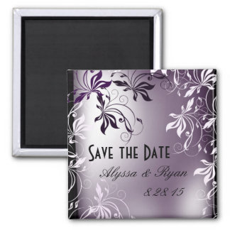 Save The Date Magnet - Purple Pearl