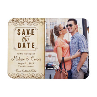 Save the Date Magnet | Regal Union Brown
