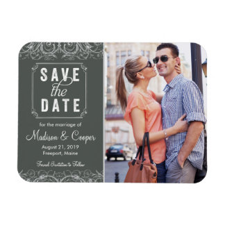 Save the Date Magnet | Regal Union Slate
