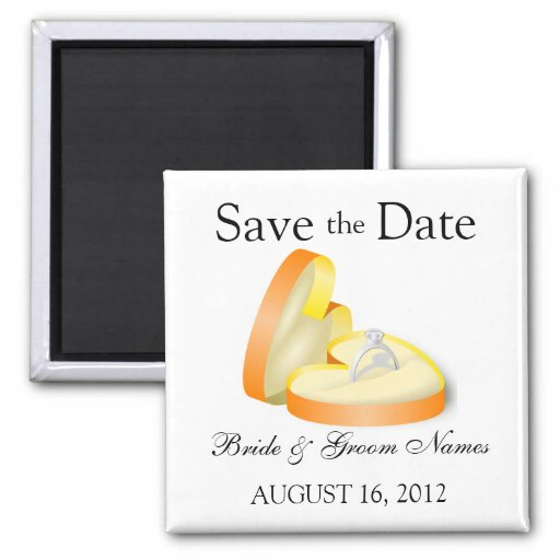 Save the Date Magnets Wedding Engagement Ring Magnet