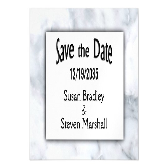 Save the Date Marble Magnetic Invitations