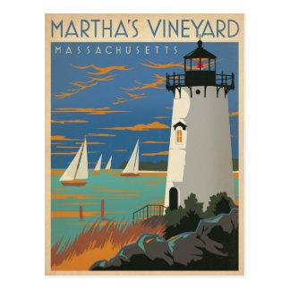 Save the Date | Martha's Vineyard, MA Lighthouse Postcard