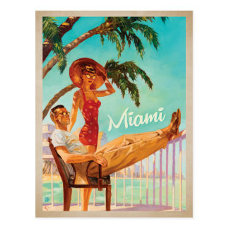 Save the Date | Miami, FL -Couple Postcard