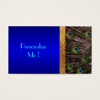 Save-the-Date Modern Elegant Chic Peacock Bride Business Card