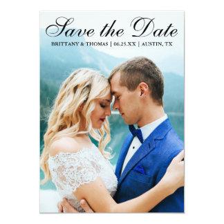 Save the Date Modern Photo Card SB