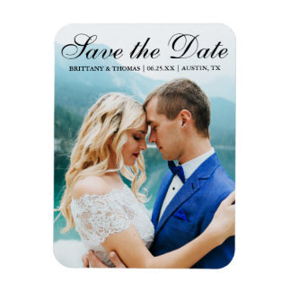 Save the Date Modern Photo Magnet SB