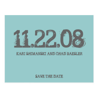 Save the date modern! postcard