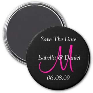 Save The Date Monogram Magnet