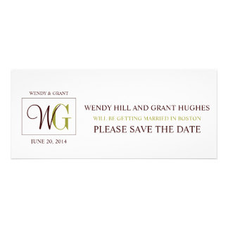 Save the Date Monogram Wedding Logo Personalized Announcements
