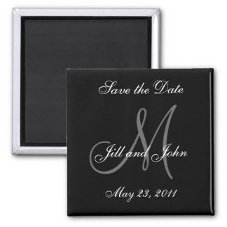 Save the Date Monogram Wedding Magnet