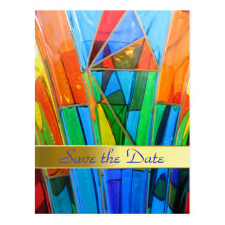 Save the Date--Murano Glass Postcard