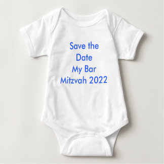 Save the Date My Bar Mitzvah 2022 Baby Bodysuit