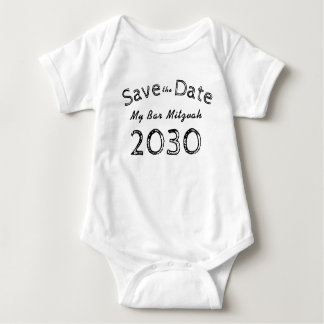 Save The Date My Bar Mitzvah 2030 ADD NAME Baby Bodysuit