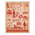 Save the Date | Nashville, TN - Pattern Print Postcard