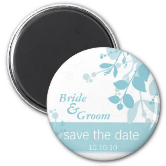 SAVE THE DATE :: nature - ice blue 2 Inch Round Magnet