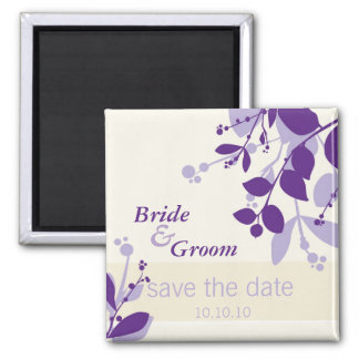 SAVE THE DATE :: nature - vanilla lilac purple Magnet
