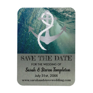 Save the Date Nautical Sailor Anchor Magnet
