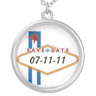 Save the Date Round Pendant Necklace