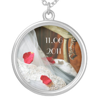 Save The Date Necklace Custom Wedding Pendant