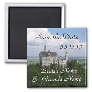 Save the Date Neuschwanstein Castle Magnet