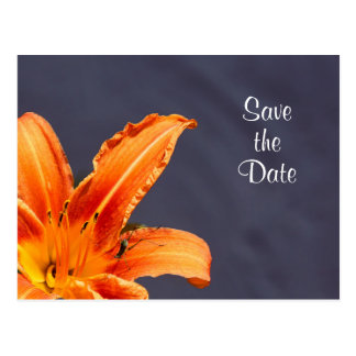 Save the Date Offset Day Lily Postcard