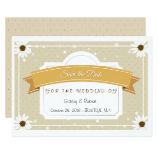 Save the date orginal clean clear invitation card