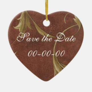 Save the Date ornate 32 Ornament