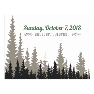 Save the Date Outdoor Wedding Trees Landscape Postcard