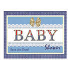 Save the Date Patriotic Baby Shower Postcard