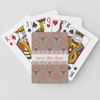 Save the date patterned poker deck