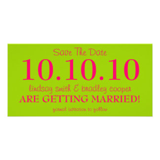 SAVE THE DATE PERSONALIZED PHOTO CARD