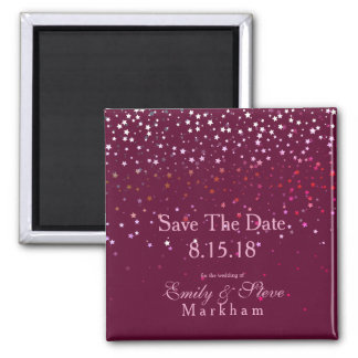 Save The Date Petite Berry Stars Magnet-Wine Magnet