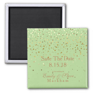 Save The Date Petite Golden Stars Magnet-Apple Magnet