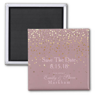 Save The Date Petite Golden Stars Magnet-DSTY Rose Magnet