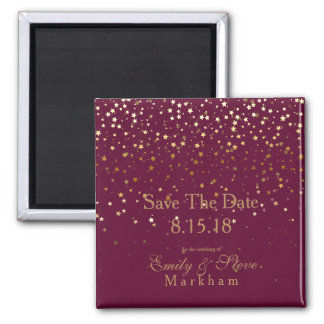 Save The Date Petite Golden Stars Magnet-Wine Magnet
