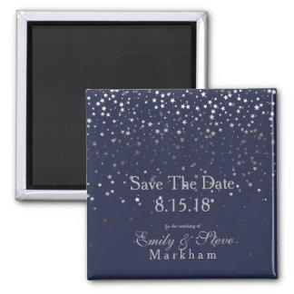 Save The Date Petite Silver Stars Magnet-MDNGT Magnet