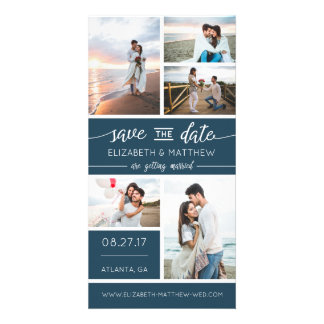 Save The Date Photo Announcement, Editable Color Photo Greeting Card