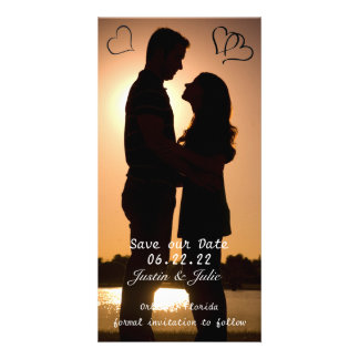 Save the Date Photo Card Simple Hearts