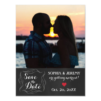 Save the Date Photo Magnet - 2 Magnetic Invitations