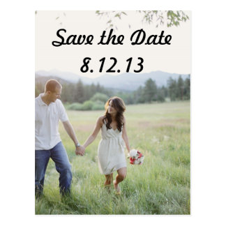 Save the Date Photo Post Card